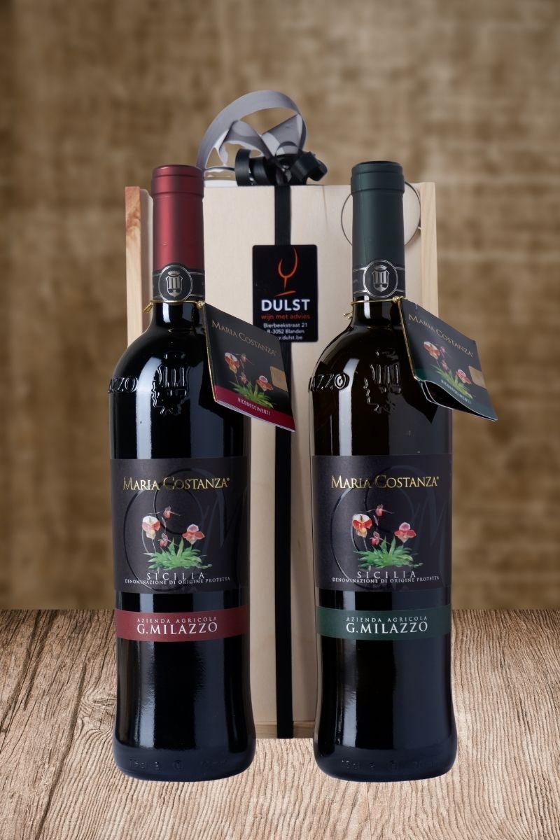 Kistje 'due vino eccellente Sicilia'